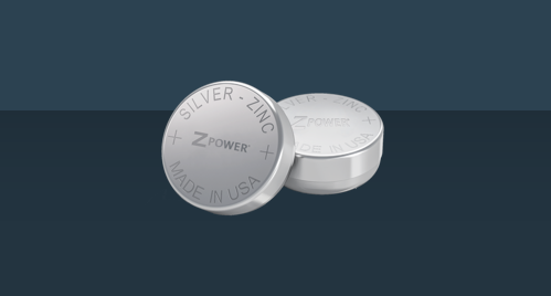 Two ZPower silver-zinc batteries