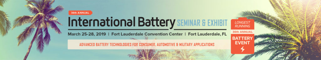 ZPower Plans to Exhibit & Present at the International Battery Seminar (IBS) 2019